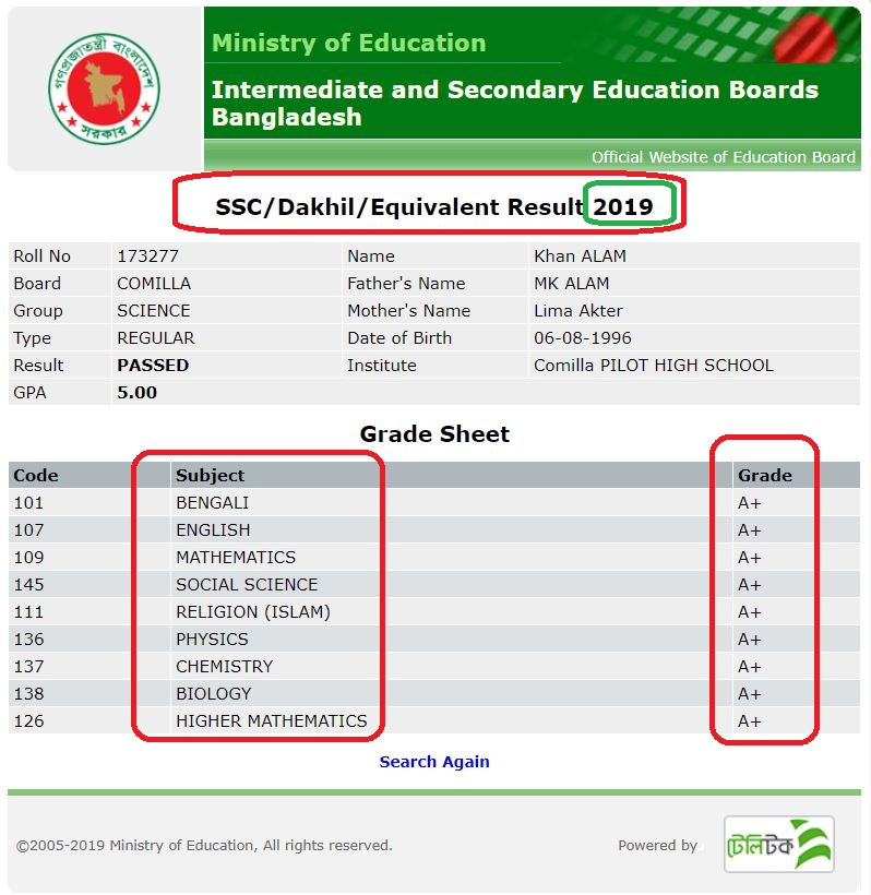 Photo of SSC Result 2019 – Bangladesh educationboardresults.gov.bd