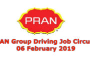 PRAN Group Driving Job Circular 06 February 2019