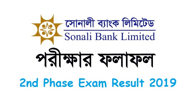 Photo of Sonali Bank Limited 2nd Phase Exam Result 2019
