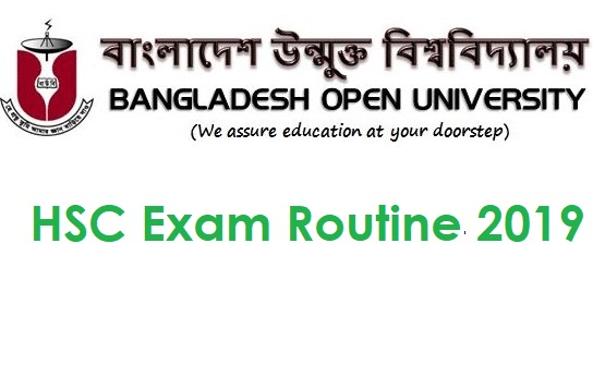 Photo of Bangladesh Open University BOU HSC Exam Routine 2019