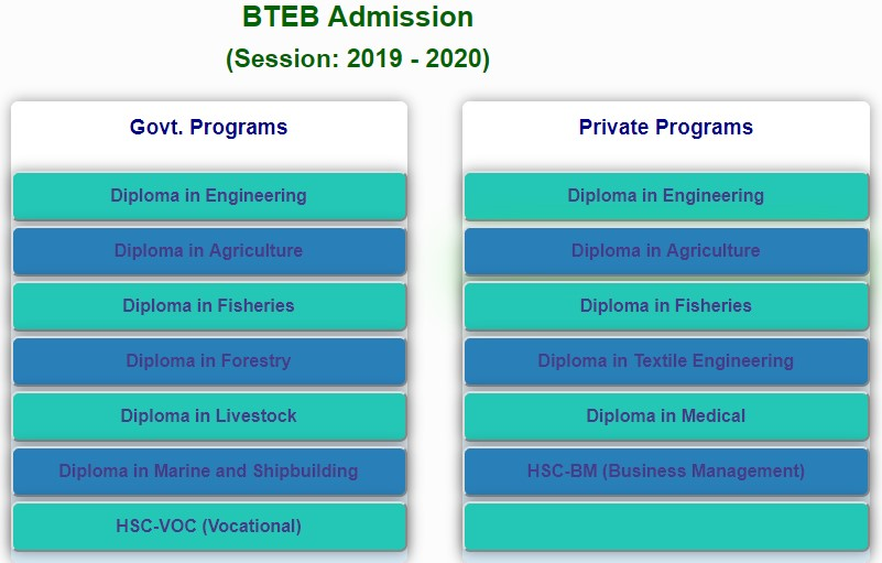 Photo of BTEB admission circular 2019 has published – www.btebadmission.gov.bd