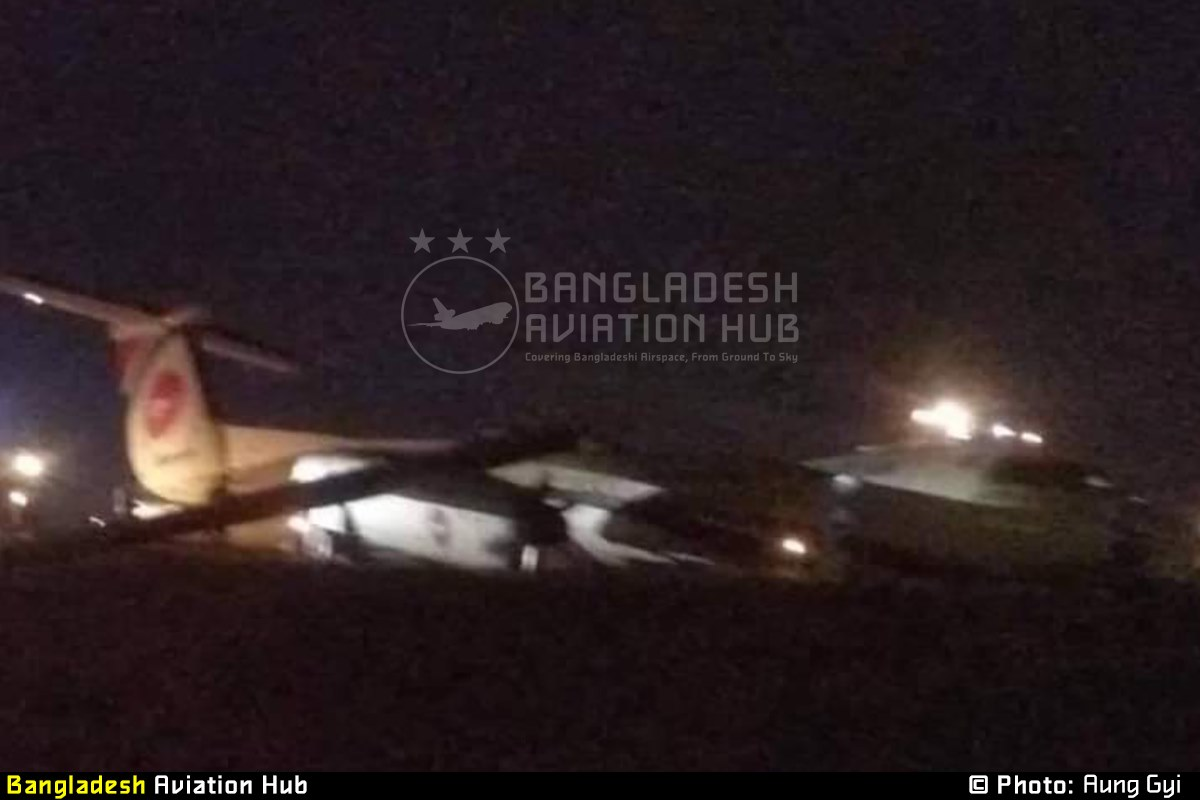Photo of Breaking News: Bangladeshi aircraft have fall out of runway in Myanmar
