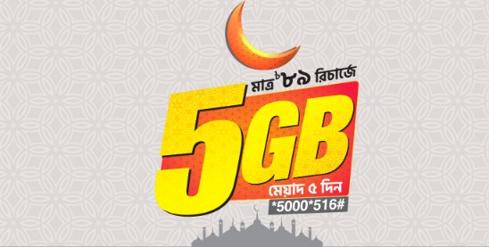 Photo of Banglalink Eid Offer 2019 Get 5GB Internet 89Tk