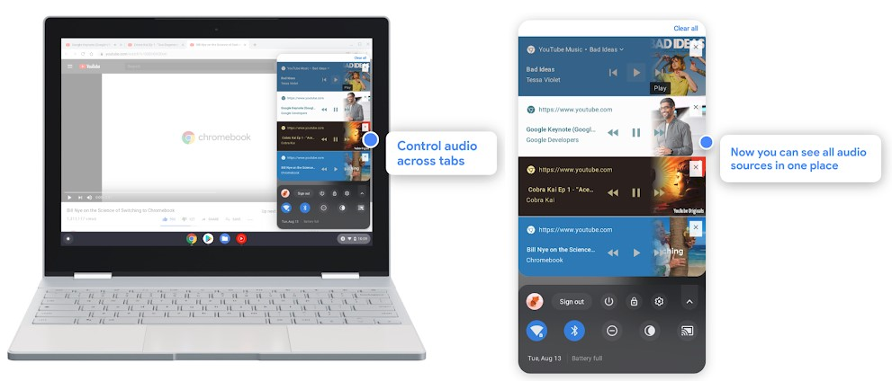 Photo of Better audio, camera and notifications – Chrome OS
