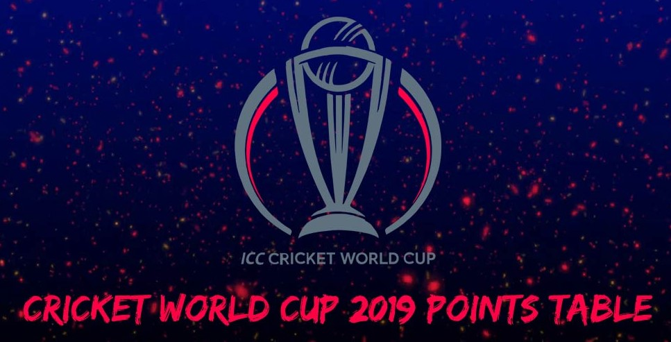 Cricket World Cup 2019 Point Table After The First Match