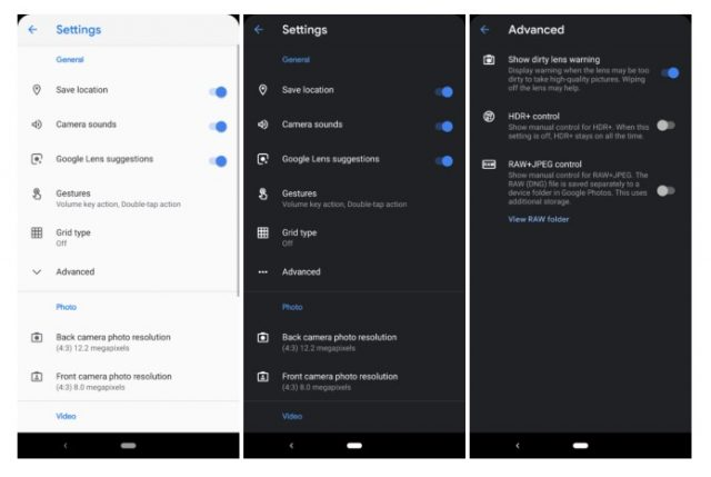 Dark Mode Setting is available on Google Camera 6.2