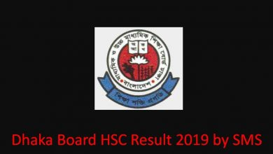 Dhaka Board HSC Result 2019 by SMS