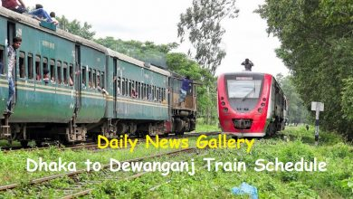 Dhaka to Dewanganj Train Schedule