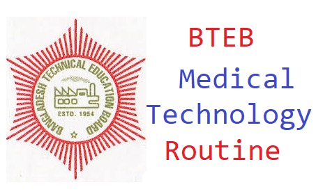 Photo of Diploma in Medical Technology (Irregular) Exam Routine has published