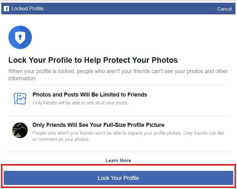 """This profile is locked"""" Facebook ID Locked Within 2 Click [Update]"""