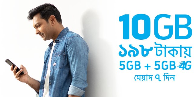 Photo of GP 10GB Internet 198 TK Offer 2019