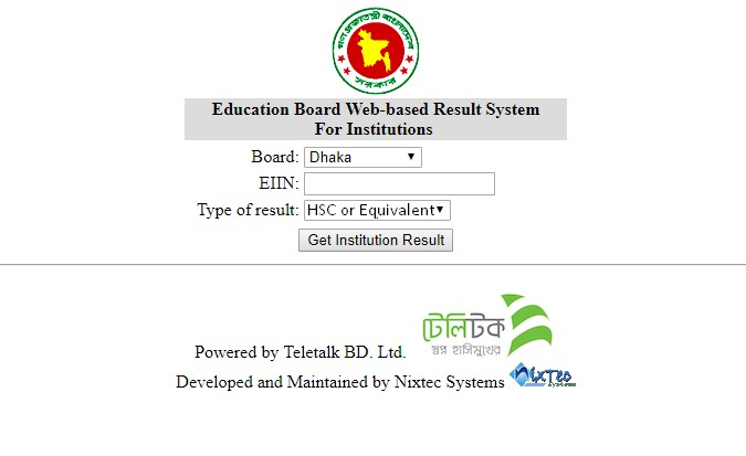 HSC Result 2019 by EIIN