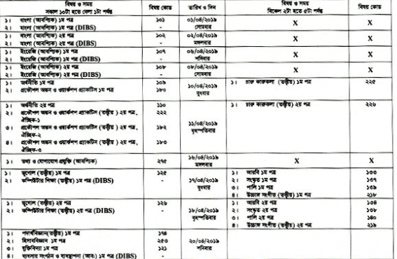 Photo of The Hsc Routine 2019 Education Board Official Routine