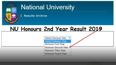 How to check NU Honours 2nd year result 2019