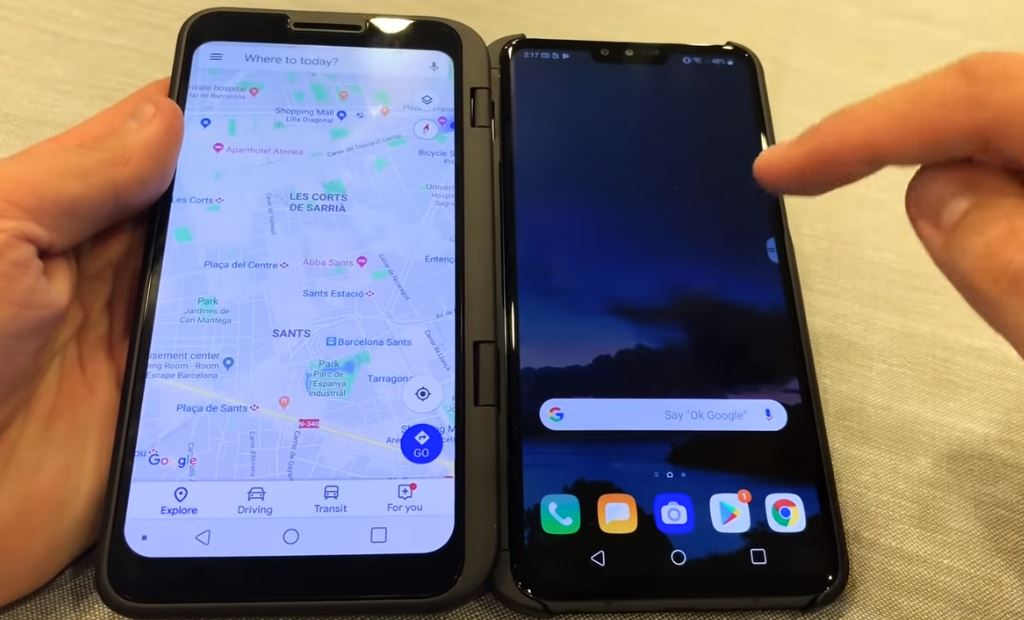 Photo of LG shows Dual Screen attachment 5G smartphone V50ThinQ