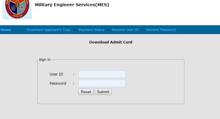 MES Exam Date & Admit card download 2019 - Daily News Gallery