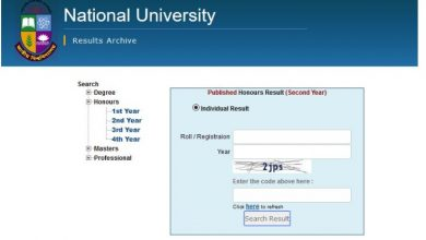 NU Honours 2nd year result 2019 has published