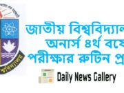 National University Honours 4th Year Exam Routine 2019