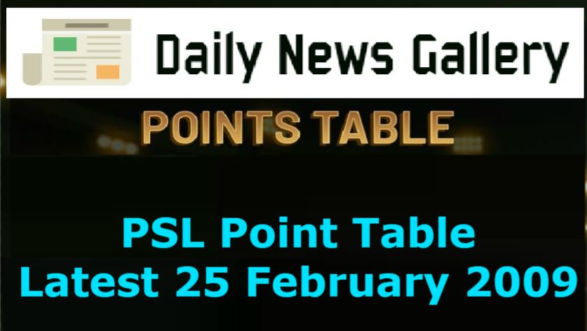 Photo of PSL Point Table Latest 25 February 2019