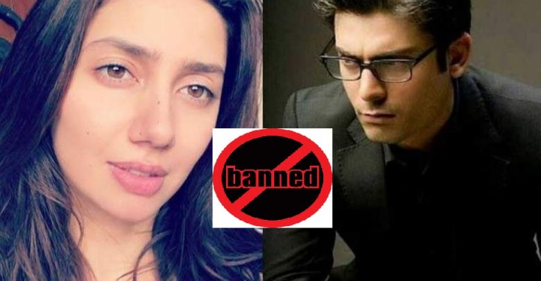 Pakistani actors banned from India