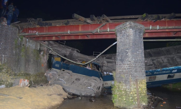 Photo of Sylhet Train Accident: Five killed as intercity train Upaban Express in Moulvibazar