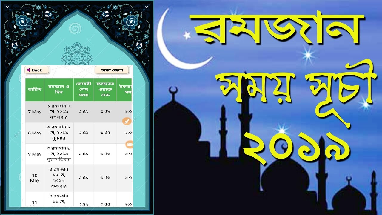 Photo of Tomorrow is the first fasting day of Ramadan see sehari and iftar time in Bangladesh